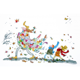 Quentin Blake - Her Lovely Patchwork Cloak