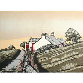 Linocut Print - Co Donegal Horn Head Donegal