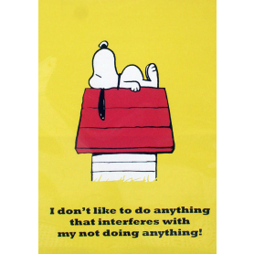 Snoopy - I Don't Like To Do Anything
