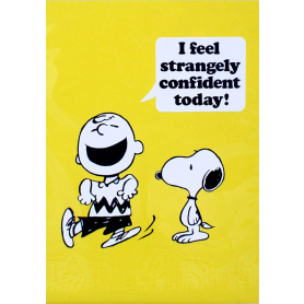 Snoopy - I Feel Strangely Confident Today