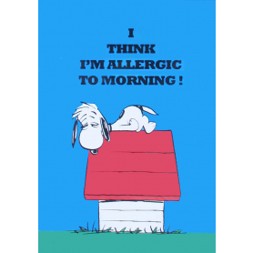 Snoopy - Allergic To Morning