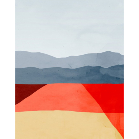 Landscape Red And Grey II