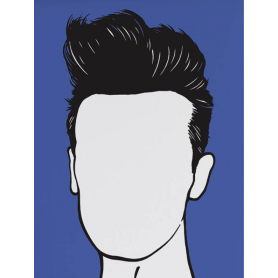 Music Icons - Morrissey in Blue