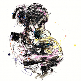 Print Open Edition Figurative - Mother And Child