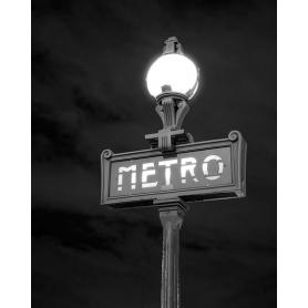 Paris Black And White Paris Metro Sign