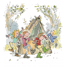 Quentin Blake Signed - Round And Round The Den Artist Proof