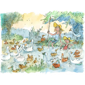 Quentin Blake - The Goose Girl And Her Brother
