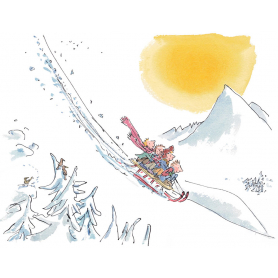 Quentin Blake - Let's See How Fast Our Sledge Will Go