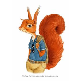 Animals - Squirrel Shakespeare Quote
