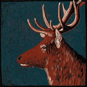 Lino Print - Red Deer
