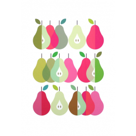 Scandi Pears Pink and Green