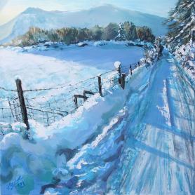 Snow On Slievenaman Road