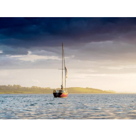 Ards Peninsula - Solitary Sailboat Strangford Lough