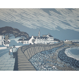 Linocut Print - Co Down South Promenade Newcastle