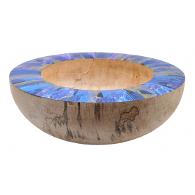 Spalted Beech Bowl With Multicoloured Rim
