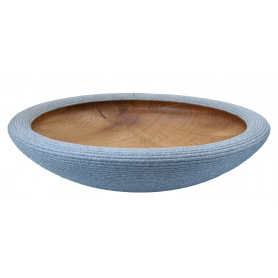Beaded Textured Oak Bowl