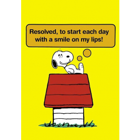 Snoopy - Resolved To Start Each Day