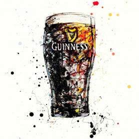 Print Open Edition - Drinks Series - Guinness The Black Stuff (Square Format)