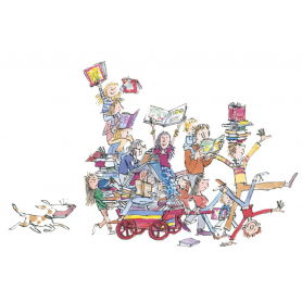 Quentin Blake Signed - The Book Cart Artist Proof