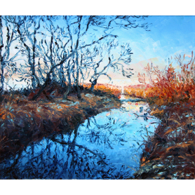 Original - Winter Sunlight At Ray's Wood, Lough Neagh