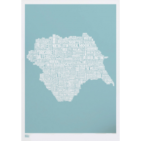 Map - England Yorkshire in Blue