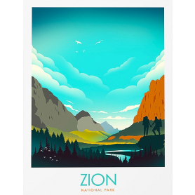 National Park - Zion (Blue)
