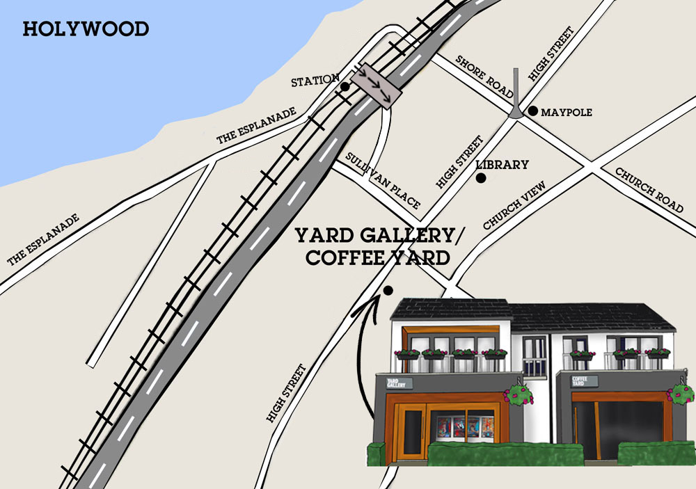 Map of how to get to Yard Gallery