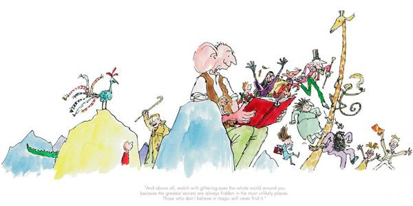 Quentin Blake - Roald Dahl 100th Anniversary Print