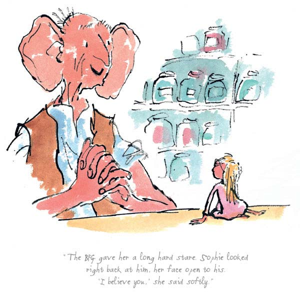 Quentin Blake - The BFG Gave Her a Long Hard Stare