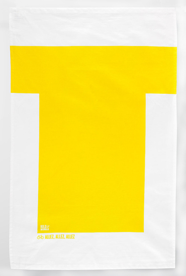 Bold and Noble Yellow Jersey Teatowel