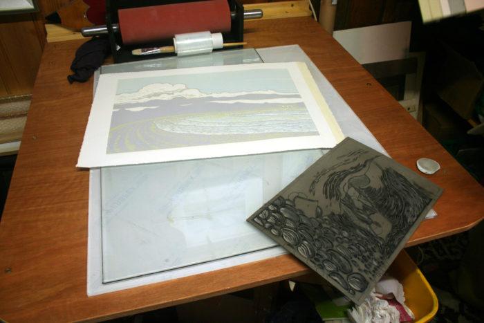 Richard Croft - Inking Table
